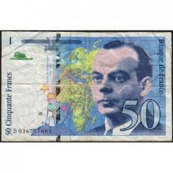 F 73-04 - 1997 - 50 francs - Saint-Exupéry - Série D - Etat : B+
