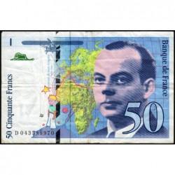 F 73-04 - 1997 - 50 francs - Saint-Exupéry - Série D - Etat : TB-