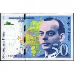 F 73-04 - 1997 - 50 francs - Saint-Exupéry - Série H - Etat : TTB