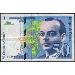 F 73-04 - 1997 - 50 francs - Saint-Exupéry - Série K - Etat : TB+