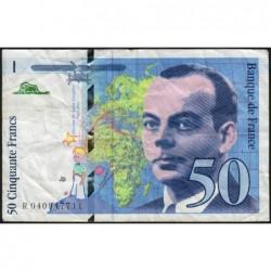 F 73-04 - 1997 - 50 francs - Saint-Exupéry - Série R - Etat : TB-