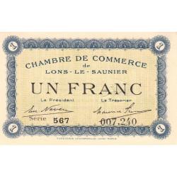 Lons-le-Saunier - Pirot 74-5 - Série 567 - 1 franc - Etat : SPL+