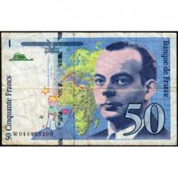 F 73-04 - 1997 - 50 francs - Saint-Exupéry - Série W - Remplacement- Etat : TB-