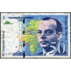 F 73-05 - 1999 - 50 francs - Saint-Exupéry - Série P - Etat : TB-