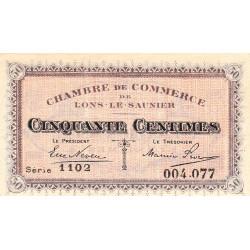 Lons-le-Saunier - Pirot 74-9 - 50 centimes - Série 1102 - Sans date - Etat : SPL