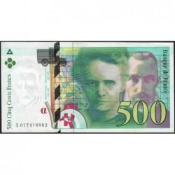 F 76-01 - 1994 - 500 francs - Pierre et Marie Curie - Série E - Etat : SUP+