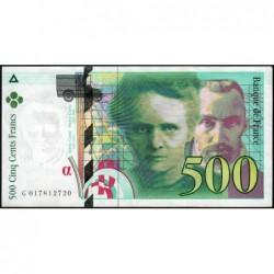 F 76-01 - 1994 - 500 francs - Pierre et Marie Curie - Série G - Etat : SUP+
