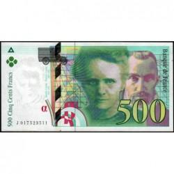 F 76-01 - 1994 - 500 francs - Pierre et Marie Curie - Série J - Etat : SUP+