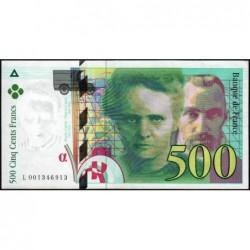 F 76-01 - 1994 - 500 francs - Pierre et Marie Curie - Série L - Etat : SUP+