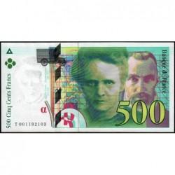 F 76-01 - 1994 - 500 francs - Pierre et Marie Curie - Série T - Etat : pr.NEUF