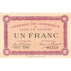 Lons-le-Saunier - Pirot 74-13 - Série 1181 - 1 franc - Etat : SPL+