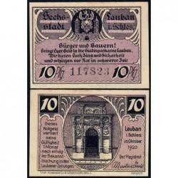 Pologne - Notgeld - Lauban (Luban) - 10 pfennig - 10/1920 - Etat : NEUF