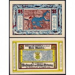 Pologne - Notgeld - Nörenberg (Insko) - 25 pfennig - 08/11/1921 - Etat : NEUF