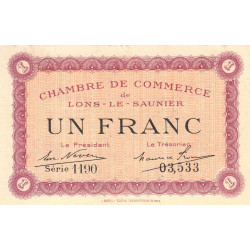 Lons-le-Saulnier - Pirot 74-13 - 1 franc - Etat : TTB+