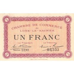Lons-le-Saunier - Pirot 74-13 - 1 franc - Série 1190 - Sans date - Etat : TTB+