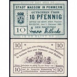 Pologne - Notgeld - Massow (Maszewo) - 10 pfennig - 01/10/1920 - Etat : pr.NEUF