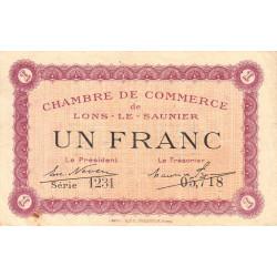 Lons-le-Saunier - Pirot 74-13 - 1 franc - Série 1231 - Sans date - Etat : TTB
