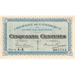 Lons-le-Saunier - Pirot 74-15 - 50 centimes - Série AG - Sans date - Etat : SUP+