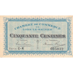 Lons-le-Saunier - Pirot 74-17 - Série CK - 50 centimes - Etat : SUP+