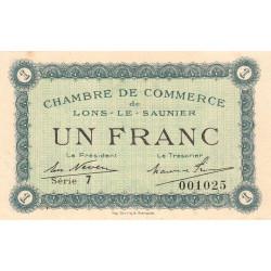 Lons-le-Saunier - Pirot 74-18b - 1 franc - Série 7 - Sans date - Etat : SUP