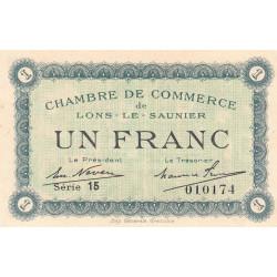 Lons-le-Saunier - Pirot 74-18a - 1 franc - Série 15 - Sans date - Etat : SPL+