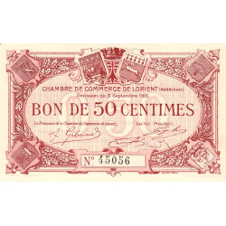 Lorient (Morbihan) - Pirot 75-1 - 50 centimes - 1915 - Etat : SUP+