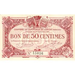 Lorient (Morbihan) - Pirot 75-1 - 50 centimes - Sans Série - 03/09/1915 - Etat : SUP+