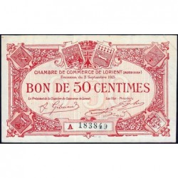 Lorient (Morbihan) - Pirot 75-20 - 50 centimes - Série A - 03/09/1915 - Etat : SUP