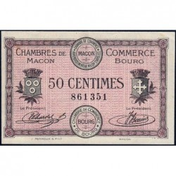 Macon et Bourg - Pirot 78-1 - 50 centimes - Sans série - 01/09/1915 - Etat : SUP