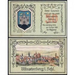Pologne - Notgeld - Münsterberg (Ziebice) - 50 pfennig - 19/04/1921 - Etat : NEUF