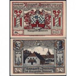 Pologne - Notgeld - Naugard (Nowogard) - 50 pfennig - 1922 - Etat : SPL