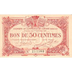Lorient (Morbihan) - Pirot 75-4 - 50 centimes - 1915 - Etat : SPL