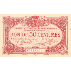 Lorient (Morbihan) - Pirot 75-4 - 50 centimes - 1915 - Etat : NEUF