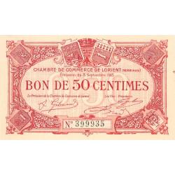 Lorient (Morbihan) - Pirot 75-4 - 50 centimes - Sans Série - 03/09/1915 - Etat : NEUF