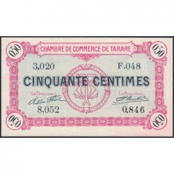 Tarare - Pirot 119-16 - 50 centimes - Série F.048 - 22/01/1916 - Etat : SPL