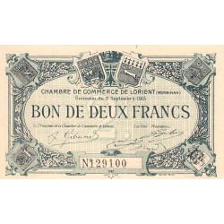 Lorient (Morbihan) - Pirot 75-11 - 2 francs - 1915 - Etat : NEUF
