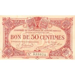 Lorient (Morbihan) - Pirot 75-14 - 50 centimes - Sans Série - 03/09/1915 - Etat : TTB