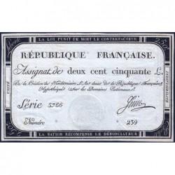 Assignat 45a - 250 livres - Signature 13 - 7 vendémiaire an 2 - Série 5766 - Etat : pr.NEUF