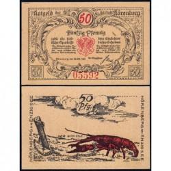 Pologne - Notgeld - Nörenberg (Insko) - 50 pfennig - Type 1 - 18/10/1921 - Etat : SPL