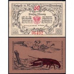 Pologne - Notgeld - Nörenberg (Insko) - 50 pfennig - Type 2 - 18/10/1921 - Etat : NEUF