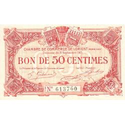 Lorient (Morbihan) - Pirot 75-17 - 50 centimes - Sans Série - 03/09/1915 - Etat : SPL