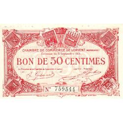 Lorient (Morbihan) - Pirot 75-17 - 50 centimes - Sans Série - 03/09/1915 - Etat : NEUF
