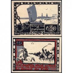 Pologne - Notgeld - Ohlau (Olawa) - 50 pfennig - 1921 - Etat : SPL