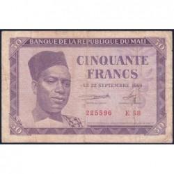Mali - Pick 1 - 50 francs - Série E 58 - 1960 - Etat : TB