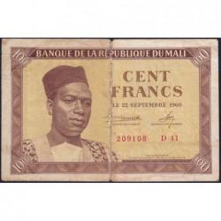 Mali - Pick 2 - 100 francs - Série D 41 - 1960 - Etat : TB-
