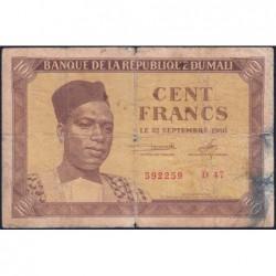 Mali - Pick 2 - 100 francs - Série D 47 - 1960 - Etat : B+