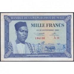 Mali - Pick 4 - 1'000 francs - Série A 14- 1960 - Etat : TTB+