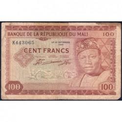 Mali - Pick 7 - 100 francs - Série K - 1967 - Etat : B