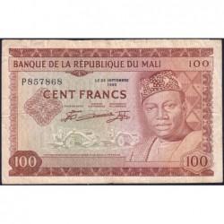 Mali - Pick 7 - 100 francs - Série P - 1967 - Etat : TB