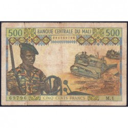 Mali - Pick 12a - 500 francs - Série M.1 - 1973 - Etat : B+